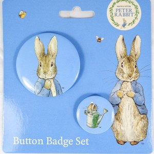 Peter Rabbit Button Badge Set