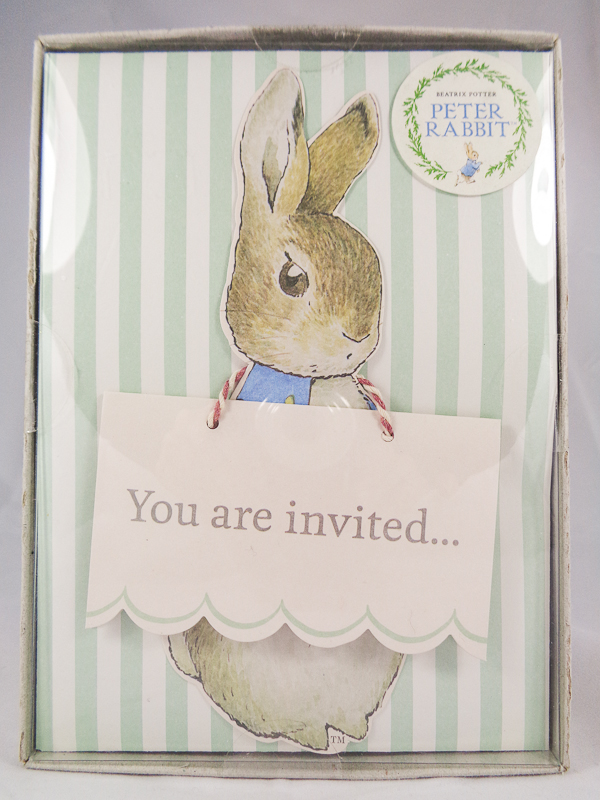 Peter Rabbit Party Invitations & Envelopes - The House of the Tailor ...