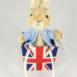 Peter Rabbit Plush In A Union Jack Bag