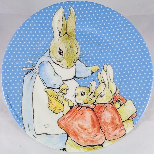 Flopsy Bunnies & Mrs. Rabbit Melamine Plate