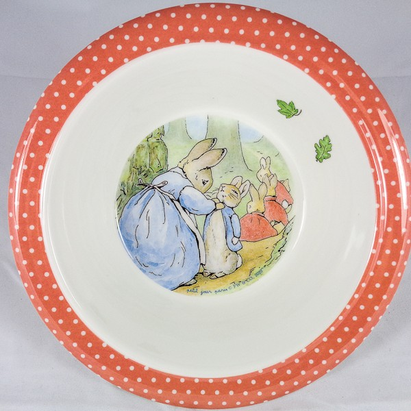 Peter Rabbit & Flopsy Bunnies Melamine Bowl